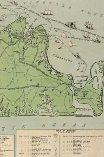 1913 Map of Martha's Vineyard - A Poetose Notebook / Journal / Diary (100 pages/50 sheets) - Poetose Press