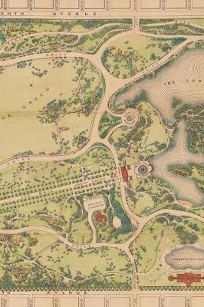 1873 Map of Central Park in Manhattan, New York City - A Poetose Notebook / Journal / Diary (100 pages/50 sheets) - Poetose Press