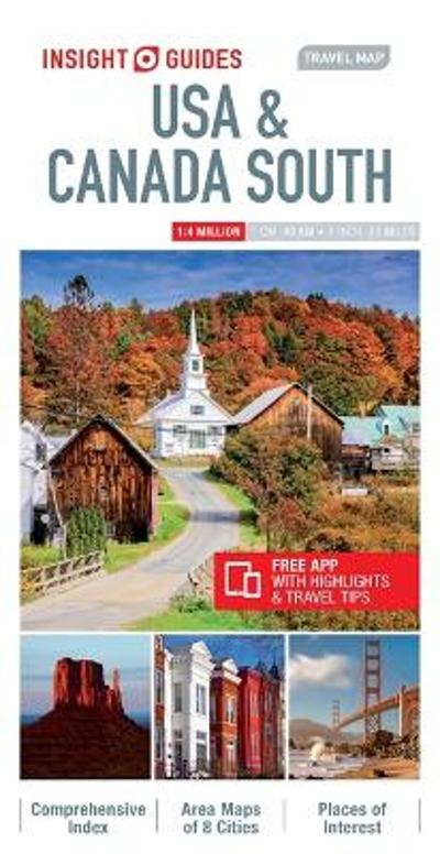 Insight Guides Travel Map USA & Canada South (Insight Maps) - Insight Guides