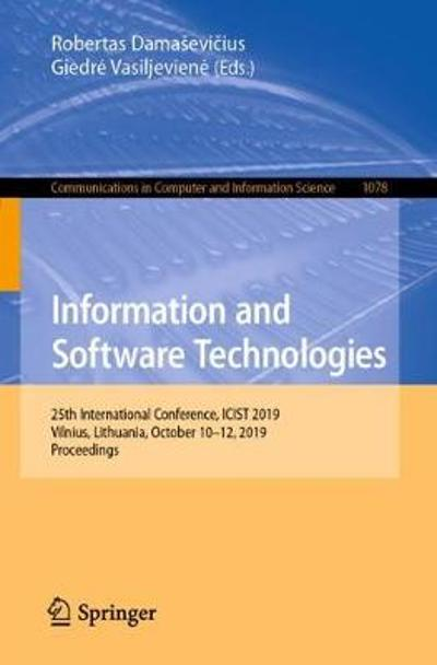 Information and Software Technologies - Robertas Damasevicius