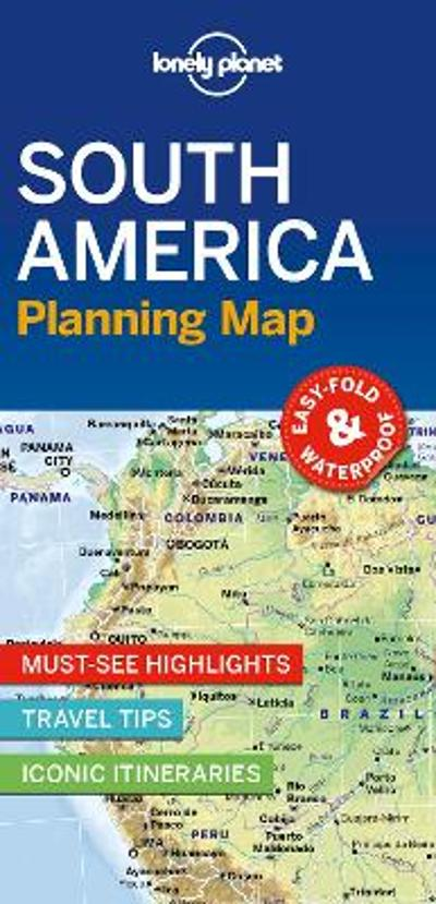 Lonely Planet South America Planning Map - Lonely Planet