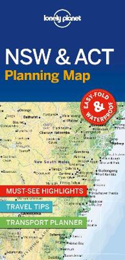Lonely Planet New South Wales & ACT Planning Map - Lonely Planet