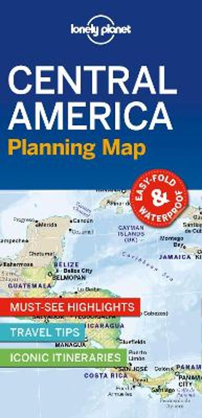 Lonely Planet Central America Planning Map - Lonely Planet