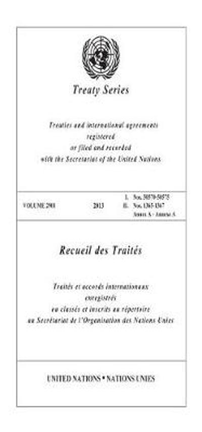 Treaty Series 2901 (English/French Edition) - United Nations Office of Legal Affairs