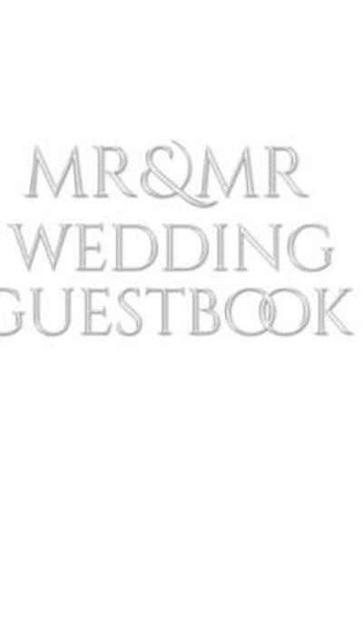 Mr and Mr wedding Guest Book - MR Wedding Guest Book