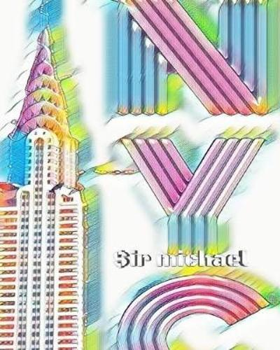 ICONIC Chrysler Building Rainbow Writing Drawing Journal. Sir Michael artist limited edition - Sir Michael Huhn