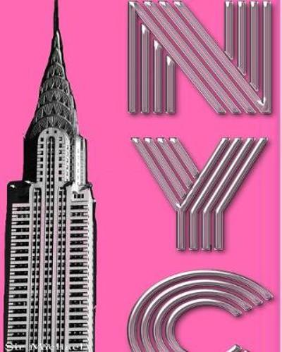 Hot Pink New York City Chrysler Building creative drawing journal - Sir Michael