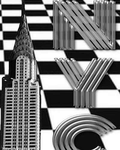 checker board New York City Chrysler Building creative drawing journal - Sir Michael Huhn