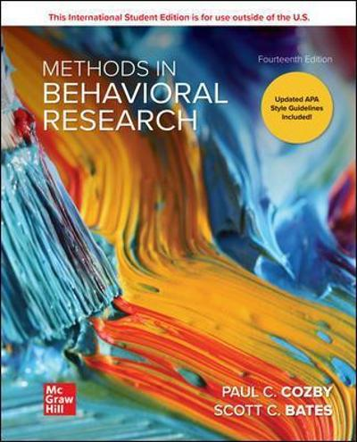 ISE Methods in Behavioral Research - Paul C. Cozby