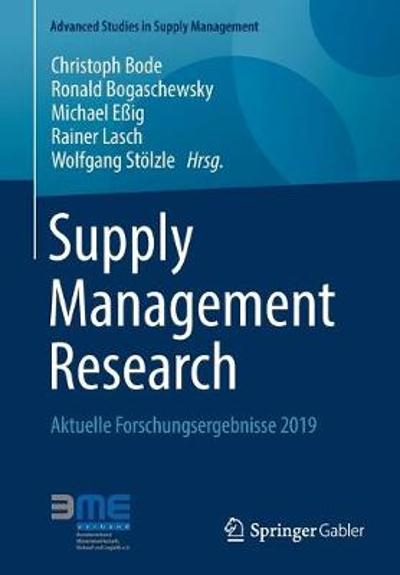 Supply Management Research - Christoph Bode