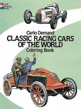 Classic Racing Cars of the World Coloring Book - Carlo Demand