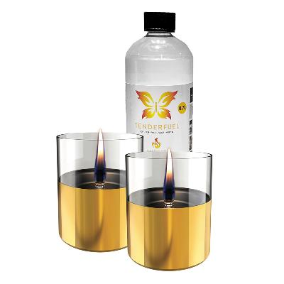 Lilly lyslykt gull 2 stk +  0,7 l fuel       - Tenderflame