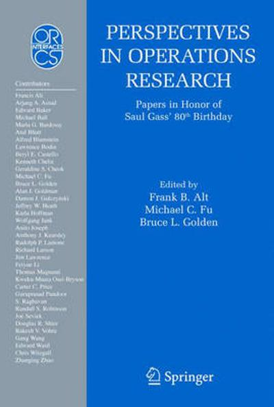 Perspectives in Operations Research - Frank B. Alt