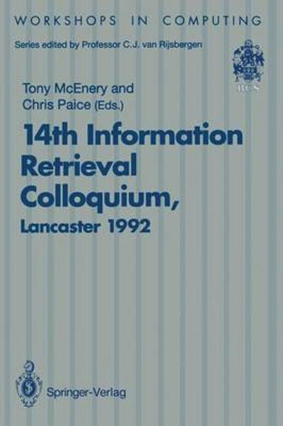 14th Information Retrieval Colloquium - Tony McEnery