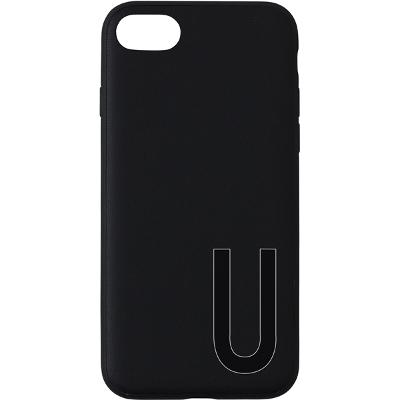 Design Letters Personal Cover iPhone Black A-Z - Design Letters