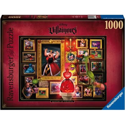 Puslespill 1000 Deler Villainous: Queen of Hearts - Ravensburger
