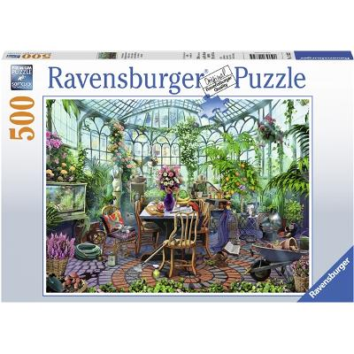 Puslespill 500 Deler Greenhouse Mornings - Ravensburger