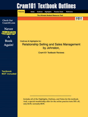 Studyguide for Relationship Selling and Sales Management by Marshall, Johnston &, ISBN 9780072892963 - 1st Edition Johnston and Marshall