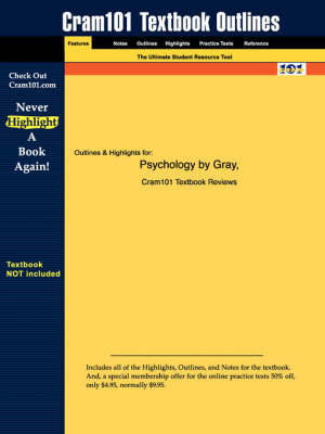 Studyguide for Psychology by Gray, ISBN 9780716706175 - 5th Edition Gray