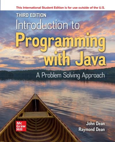 ISE eBook Online Access for Introduction to Programming with Java - DEAN