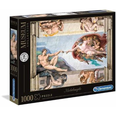 Puslespill 1000 Michelangelo - Creation of Man - Clementoni