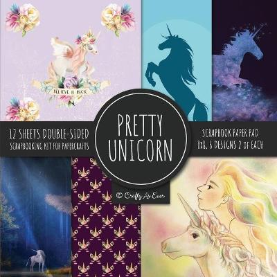 Pretty Unicorn Scrapbook Paper Pad 8x8 Scrapbooking Kit for Papercrafts, Cardmaking, Printmaking, DIY Crafts, Fantasy Themed, Designs, Borders, Backgrounds, Patterns - Crafty as Ever