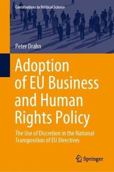 Adoption of EU Business and Human Rights Policy - Peter Drahn