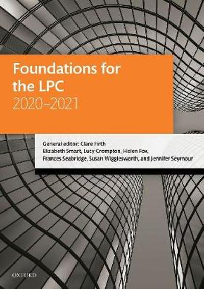 Foundations for the LPC 2020-2021 - Clare Firth