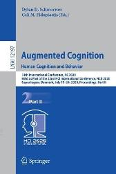 Augmented Cognition. Human Cognition and Behavior - Dylan D. Schmorrow Cali M. Fidopiastis