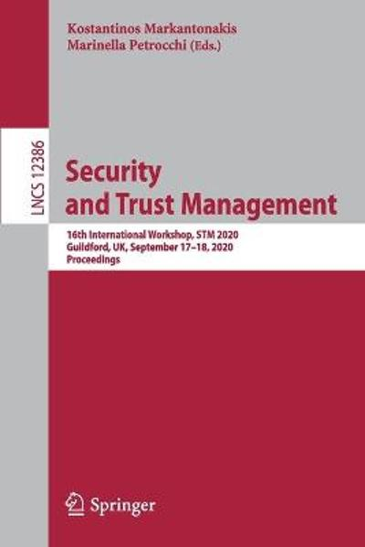 Security and Trust Management - Kostantinos Markantonakis