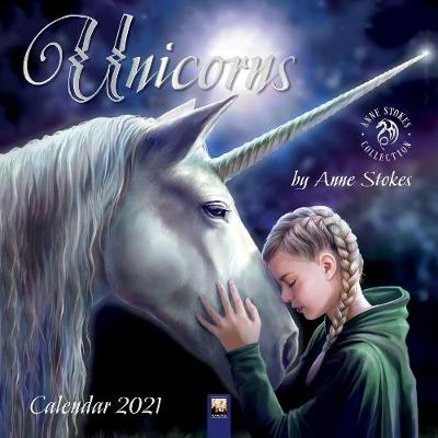 Unicorns by Anne Stokes Wall Calendar 2021 (Art Calendar) - Flame Tree Studio