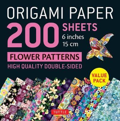 "Origami Paper 200 sheets Flower Patterns 6"" (15 cm) - Tuttle Publishing"