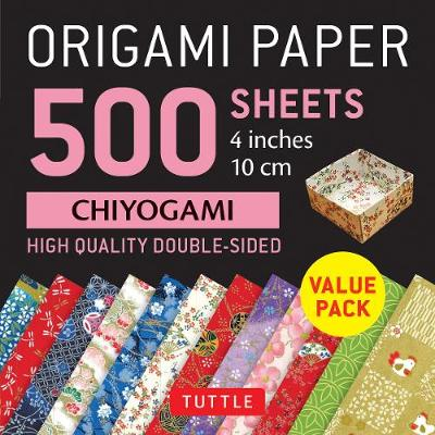 "Origami Paper 500 sheets Chiyogami Patterns 4"" (10 cm) - Tuttle Publishing"