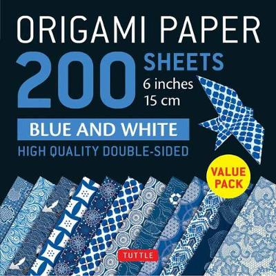 "Origami Paper 200 sheets Blue and White Patterns 6"" (15 cm) - Tuttle Publishing"