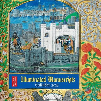 British Library - Illuminated Manuscripts Wall Calendar 2021 (Art Calendar) - Flame Tree Studio