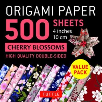 "Origami Paper 500 sheets Cherry Blossoms 4"" (10 cm) - Tuttle Publishing"