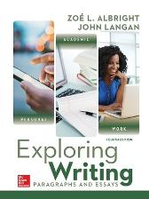 Exploring Writing: Paragraphs and Essays - John Langan Zoe Albright