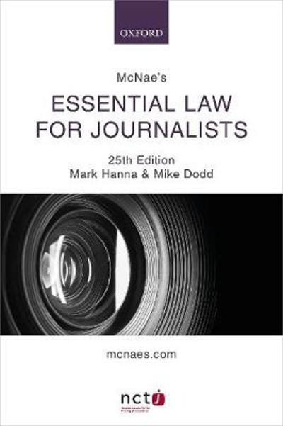 McNae's Essential Law for Journalists - Mark Hanna