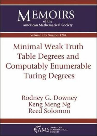 Minimal Weak Truth Table Degrees and Computably Enumerable Turing Degrees - Rodney G. Downey
