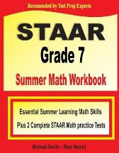STAAR Grade 7 Summer Math Workbook - Michael Smith Reza Nazari
