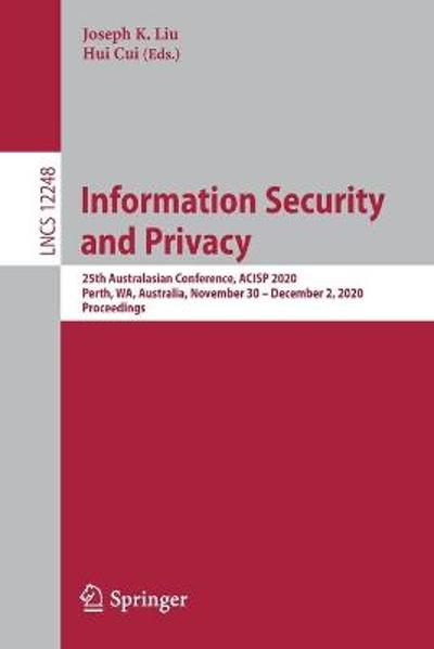 Information Security and Privacy - Joseph K. Liu