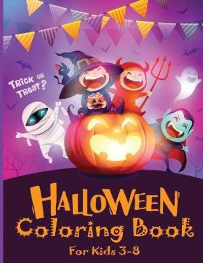 Halloween Coloring Book for Kids 3-8 - Blue Wave Press