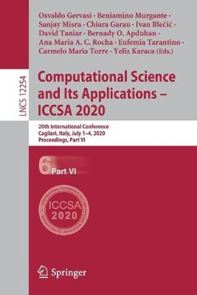 Computational Science and Its Applications - ICCSA 2020 - Osvaldo Gervasi