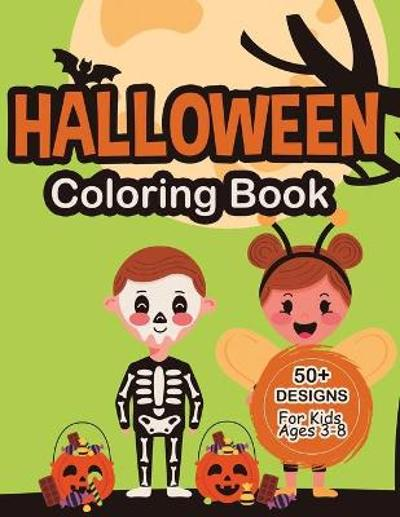 Halloween Coloring Book For Kids Ages 3-8 - Katherine Miller