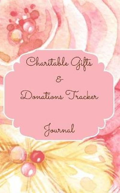 Charitable Gifts And Donations Tracker Journal Color Interior Pastel Rose Gold Pink Floral Yellow White Pearl Colorful - Toqeph