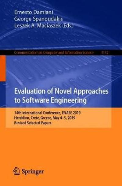 Evaluation of Novel Approaches to Software Engineering - Ernesto Damiani