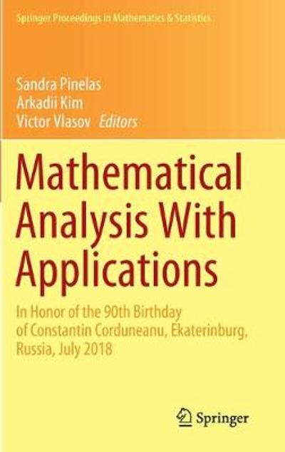 Mathematical Analysis With Applications - Sandra Pinelas