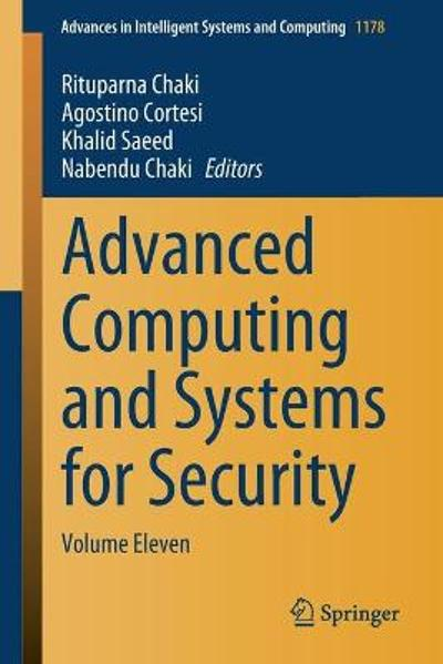 Advanced Computing and Systems for Security - Rituparna Chaki
