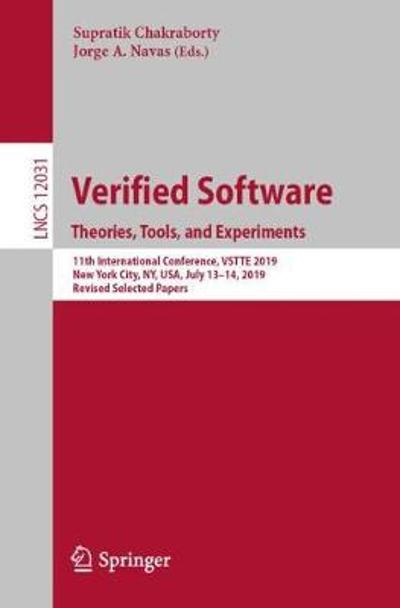 Verified Software. Theories, Tools, and Experiments - Supratik Chakraborty