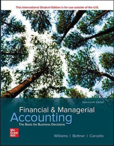 ISE Financial & Managerial Accounting - Jan Williams